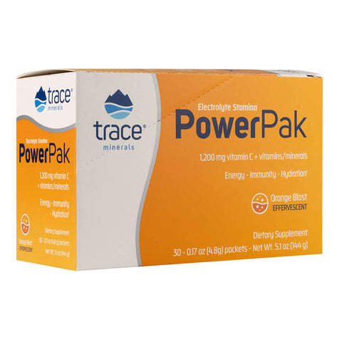 Trace Minerals Research Electrolyte Stamina Power Pak - Orange Blast (30 packets)