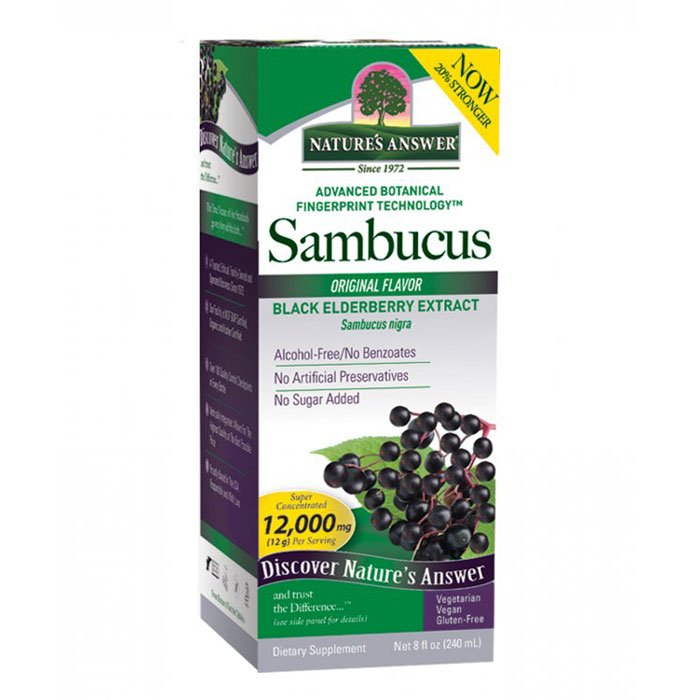 Nature's Answer Sambucus Black Elder Berry Extract