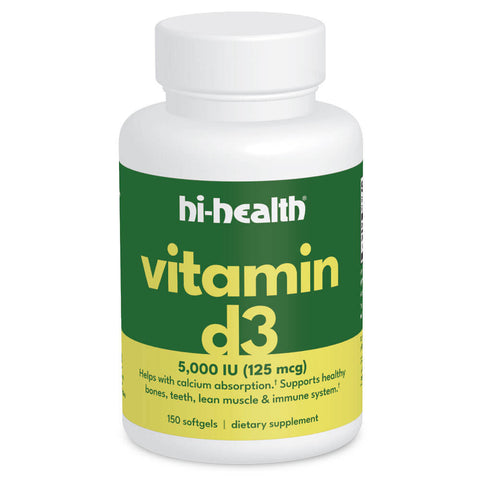 Hi-Health Vitamin D3 5000 IU (125 mg) (150 softgels)