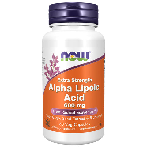 NOW Alpha Lipoic Acid, Extra Strength 600mg (60 capsules)