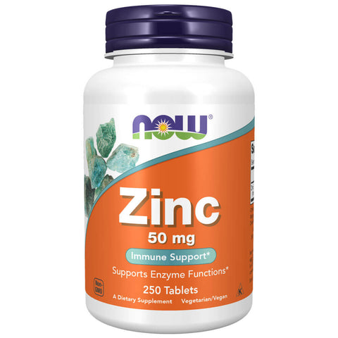 NOW Zinc 50mg (250 tablets)