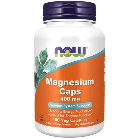 NOW Magnesium Caps 400mg (180 capsules)