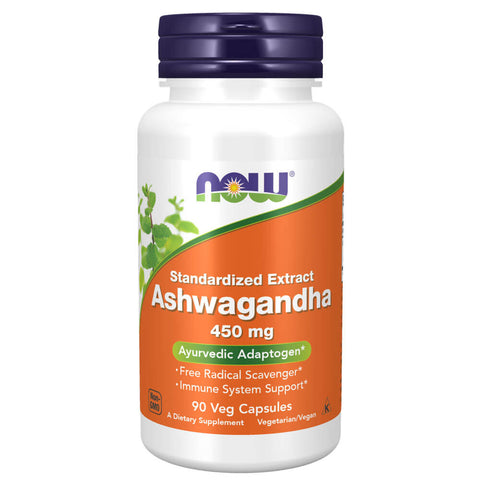 NOW Ashwagandha Standardized Extract 450mg (90 capsules)