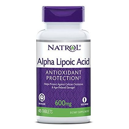 Natrol Alpha Lipoic Acid, Time Release, 600mg (45 tablets)