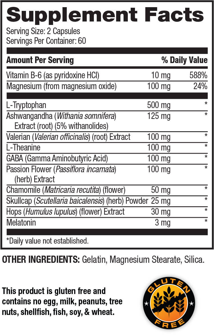 Optim Nutrition Advanced Sleep Formula with Ashwagandha (120 capsules)
