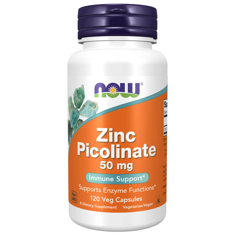 NOW Zinc Picolinate 50mg (120 veg capsules)