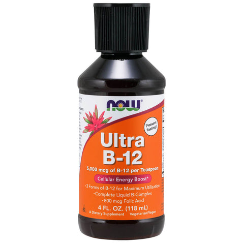 NOW Ultra B-12 Liquid 5000mcg (4 fl oz)