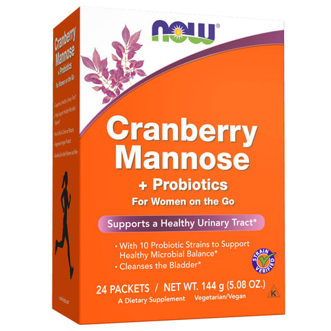 NOW Cranberry Mannose + Probiotics (24 packets)