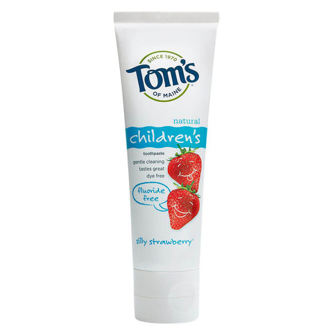 Tom's of Maine Fluoride-Free Children's Toothpaste - Silly Strawberry (4.2 oz)