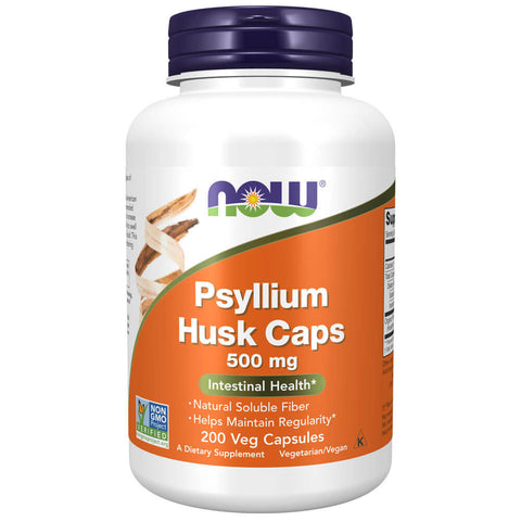 NOW Psyllium Husk Caps 500mg (200 capsules)