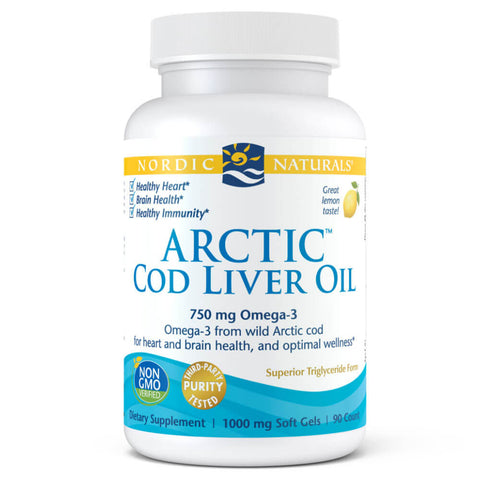 Nordic Naturals Arctic Cod Liver Oil - Lemon (90 softgels)