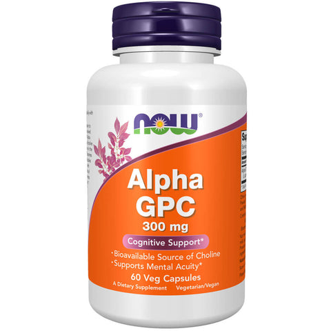 NOW Alpha GPC 300mg (60 veg capsules)