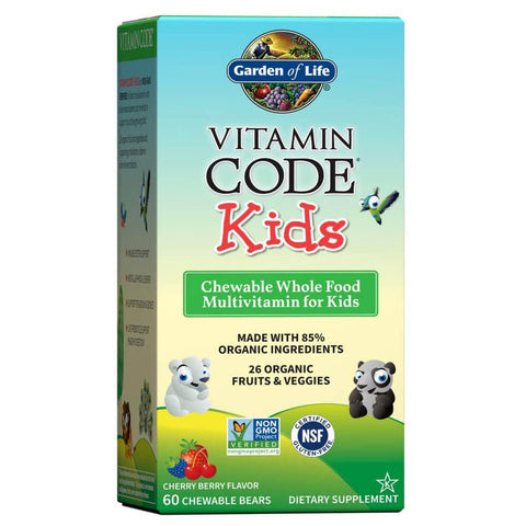 Garden of Life Vitamin Code Kids Multivitamin - Cherry Berry (60 bears)