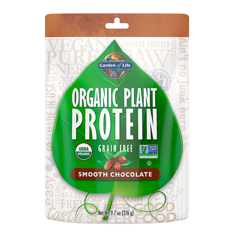Garden of Life Organic Plant Protein - Smooth Chocolate (9.7 oz)