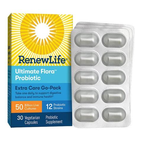 Renew Life Ultimate Flora Extra Care Probiotic Go-Pack 50 Billion (30 capsules)