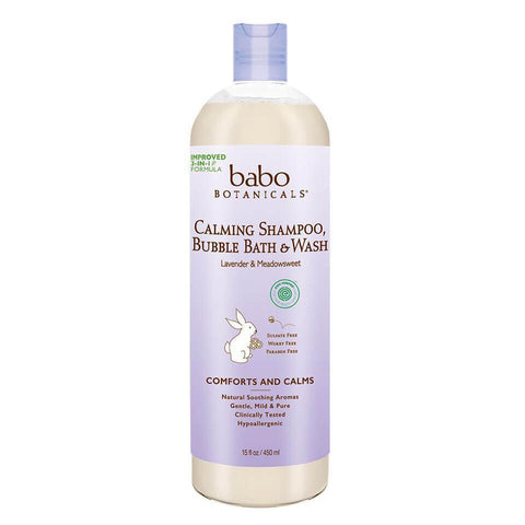 Babo Botanicals Calming Shampoo, Bubble Bath & Wash (15 fl oz)