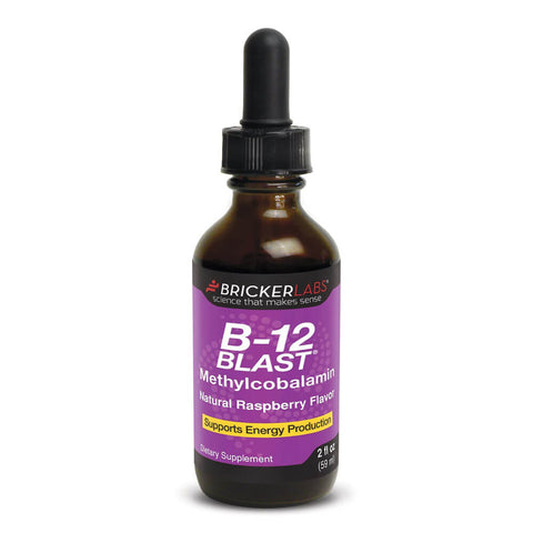 Bricker Labs B-12 Blast Methylcobalamin - Raspberry (2 fl oz)