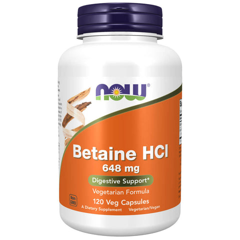 NOW Betaine HCl (120 capsules)