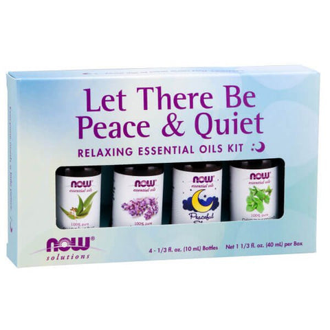 NOW Solutions Let There Be Peace & Quiet Relaxing Essential Oils Kit
