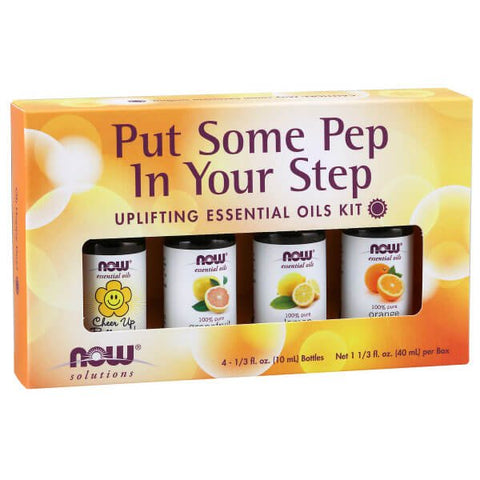 NOW Solutions Put Some Pep in Your Step Uplifting Essential Oils Kit