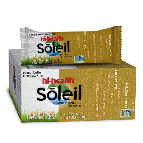 Soleil Nutrition Bar - Peanut Butter Chocolate Chip (box of 12)