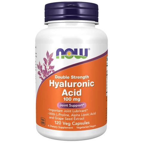 NOW Hyaluronic Acid Double Strength 100mg (120 veg capsules)