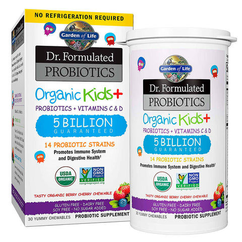 Garden of Life Dr. Formulated Probiotics Organic Kids+ 5 Billion CFU (30 chewables)