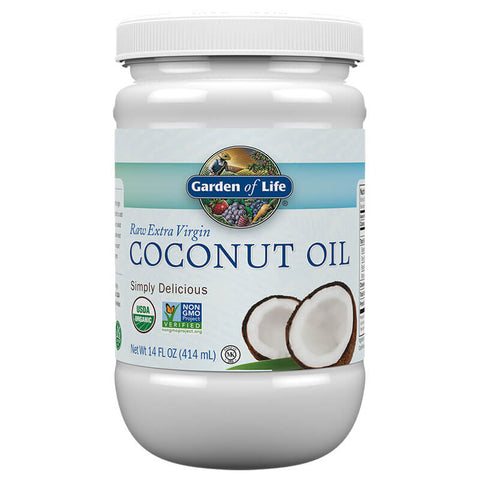 Garden of Life Raw Extra Virgin Coconut Oil - Plastic Jar (14 fl oz)