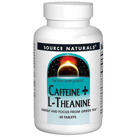 Source Naturals Caffeine + L-Theanine (60 tablets)
