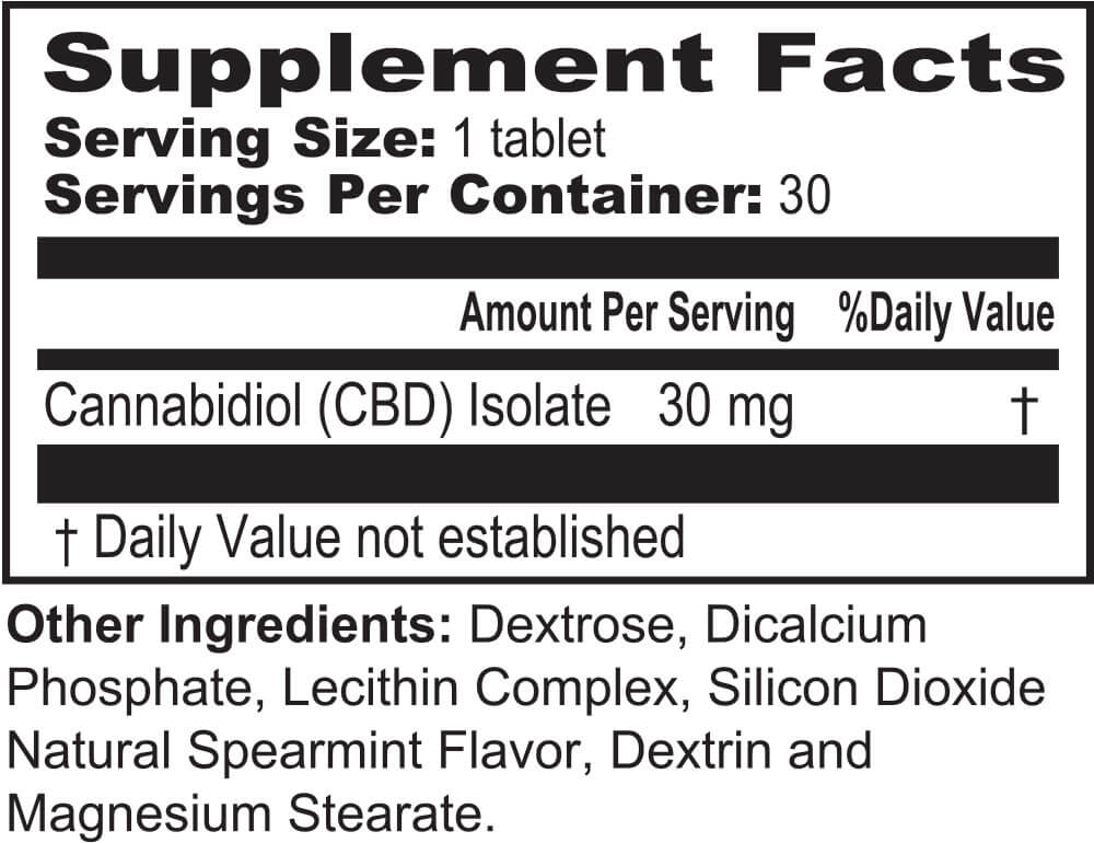 Future Pharm CBD Liposome Hemplets (30 chewable tablets)