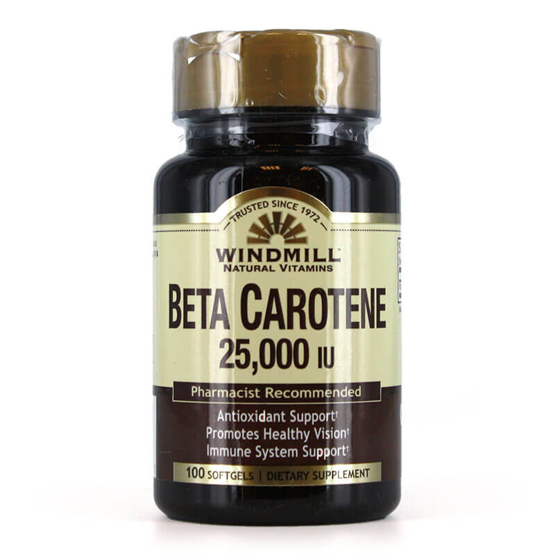 Windmill Beta Carotene 25,000 IU (100 softgels)