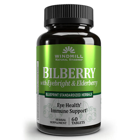 Windmill Bilberry 5mg Extract (60 caplets)