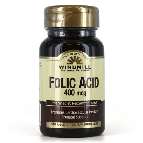 Windmill Folic Acid 400mcg (180 tabs)