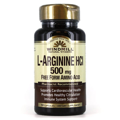 Windmill L-Arginine HCl 500mg (50 caps)
