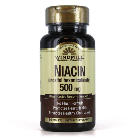 Windmill No Flush Niacin 500mg (30 tabs)