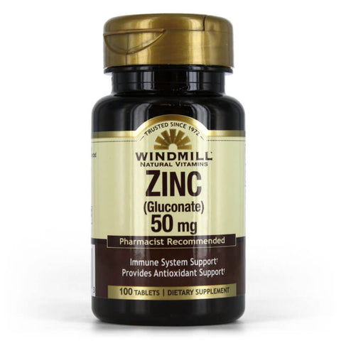 Windmill Zinc Gluconate 50mg (100 tablets)