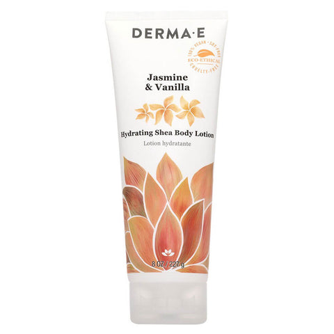 Derma E Jasmine & Vanilla, Hydrating Shea Body Lotion (8 oz)