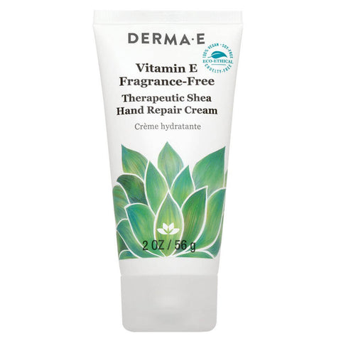 Derma E Vitamin E Fragrance-Free, Therapeutic Moisture Shea Hand Cream (2 oz)