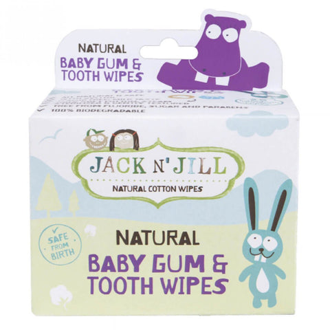 Jack N' Jill Natural Baby Gum & Tooth Wipes (25 wipes)