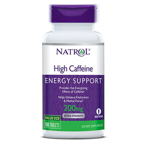 Natrol High Caffeine 200mg (100 tablets)