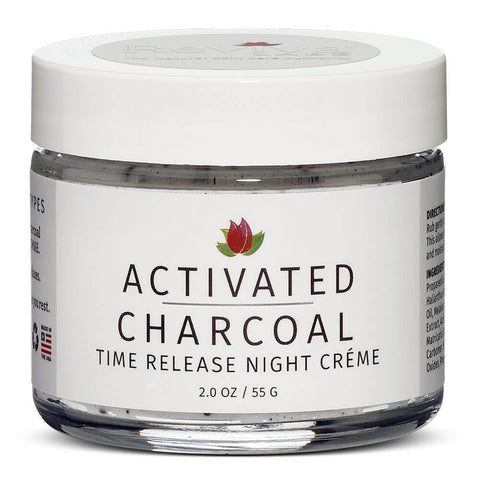 Reviva Labs Activated Charcoal Time Release Night Creme (2 oz)