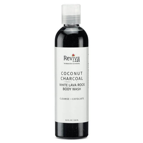 Reviva Labs Coconut Charcoal and White Lava Body Wash (8 fl oz)