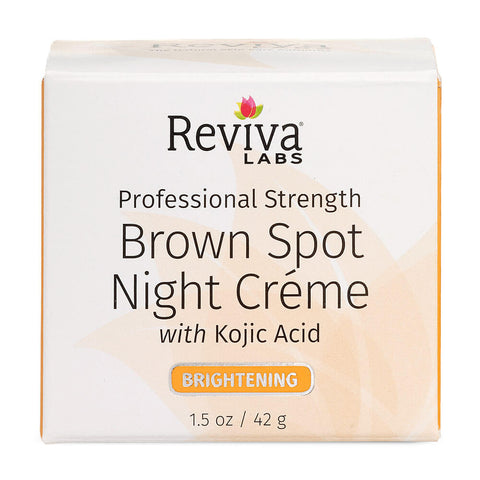 Reviva Labs Brown Spot Night Creme with Kojic Acid (1.5 oz)