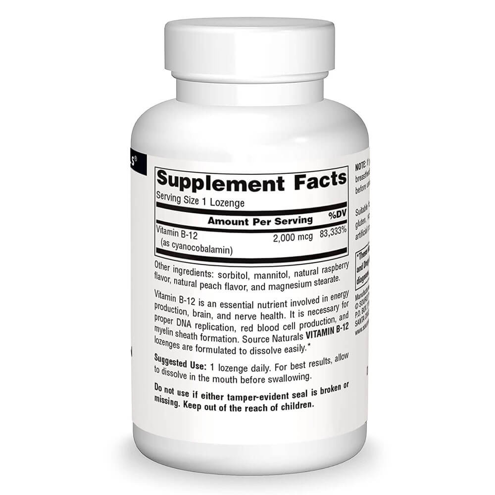 Ingredients and supplement facts