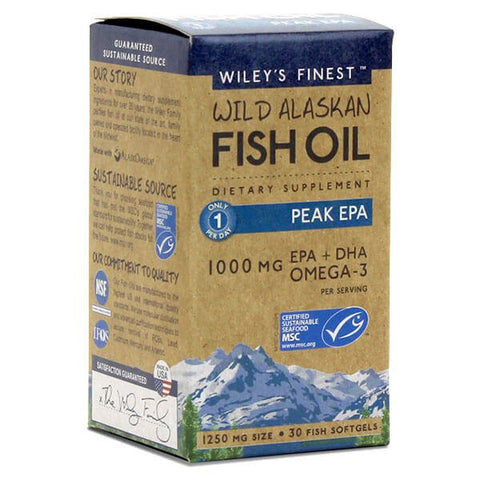 Wiley's Finest Wild Alaskan Fish Oil Peak EPA (30 softgels)