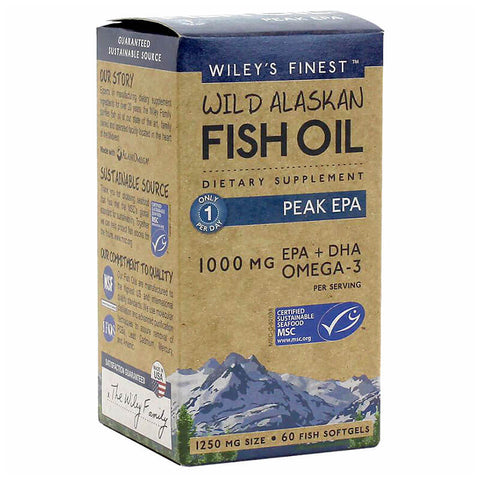 Wiley's Finest Wild Alaskan Fish Oil Peak EPA (60 softgels)