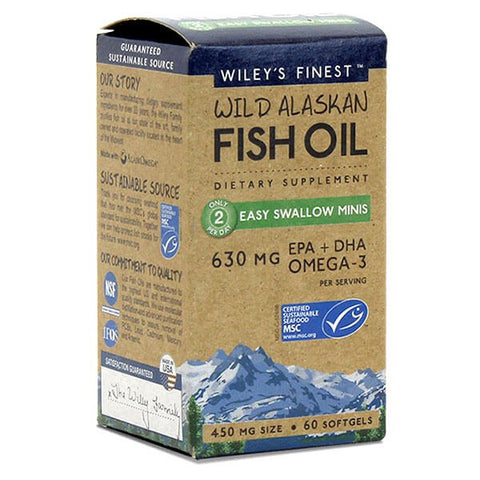 Wiley's Finest Wild Alaskan Fish Oil Easy Swallow Minis (60 softgels)