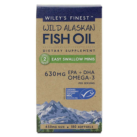 Wiley's Finest Wild Alaskan Fish Oil Easy Swallow Minis (180 softgels)