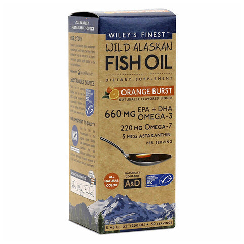 Wiley's Finest Wild Alaskan Fish Oil Orange Burst (8.45 fl oz)