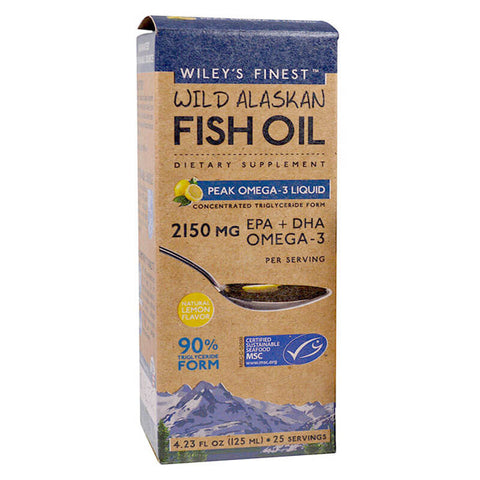 Wiley's Finest Wild Alaskan Fish Oil Peak Omega-3 Liquid (4.23 fl oz)